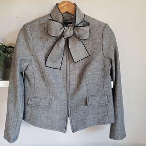 Banana Republic Bow Tie Neck Tweed Jacket 0P